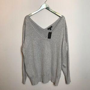 LANE BRYANT light gray long sleeve sweater shirt
